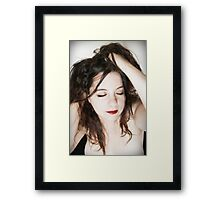 A woman in love Framed Print