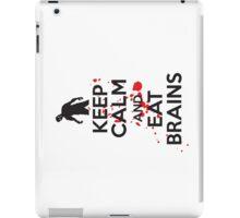 Keep calm and eat brains iPad Case/Skin