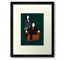 Holmes and Watson - Elementary Framed Print