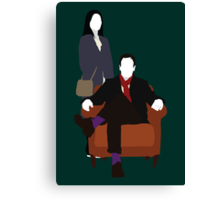 Holmes and Watson - Elementary Canvas Print