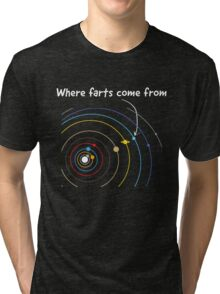 Where farts come from Tri-blend T-Shirt