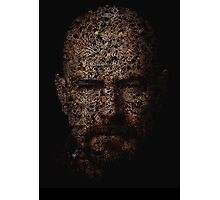 Walter White, Typographic Man of Chemistry Photographic Print