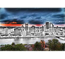Pittsburgh Sketch & Color Photographic Print
