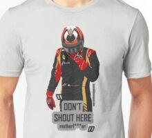"""Don't shout"" Kimi Raikkonen team radio Unisex T-Shirt"