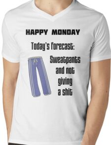 Happy Monday, or not. Mens V-Neck T-Shirt