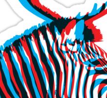 Zebra with Antlers Sticker