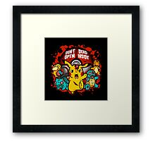 Zombiemon Framed Print