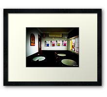 Bus Station Cafe -Ronda  Framed Print