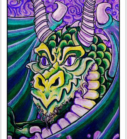 dragon close up (large) Sticker