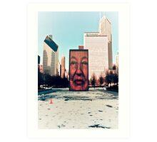 Face Fountain Art Print
