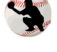 Baseball Catcher Silhouette by kwg2200
