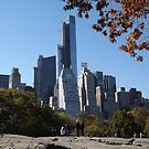 The One57 Skyscraper Dominates the Central Park South Skyline, Central Park, New York City by lenspiro