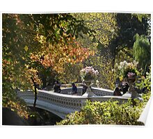 Central Park Bridge, Autumn Colors, New York City Poster
