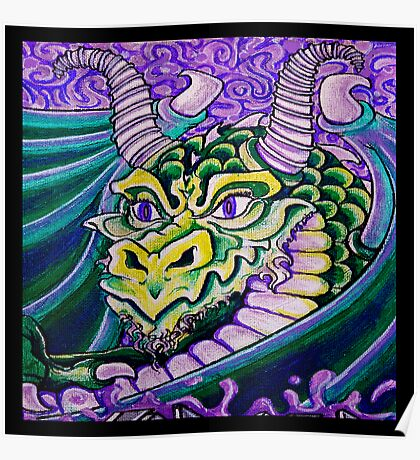 dragon close up (square) Poster