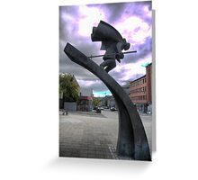 Skiing Through Lillehammer Greeting Card