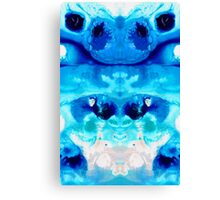 Happiness - Blue Abstract Art By Sharon Cummings Canvas Print