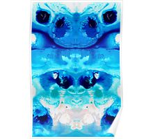 Happiness - Blue Abstract Art By Sharon Cummings Poster