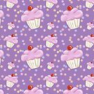 Purple Cupcake pattern by Vicki Field