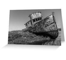 Shipwreck at Point Reyes (Black & White) Greeting Card