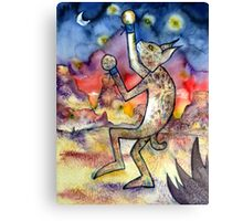 Spars with Fireflies Canvas Print