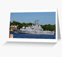 Ready to go- Stockholm harbour Greeting Card