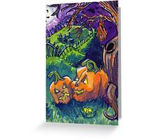Spooky Pumpkins Greeting Card
