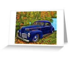 Autumn Jalopy - 1941 Hudson Greeting Card