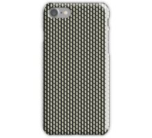 Salt & pepper vintage amplifier grill cloth iPhone Case/Skin