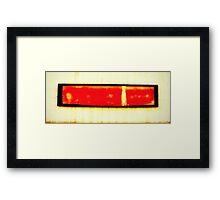 Red Oxide Framed Print