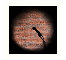 Microphone - Open mic Art Print