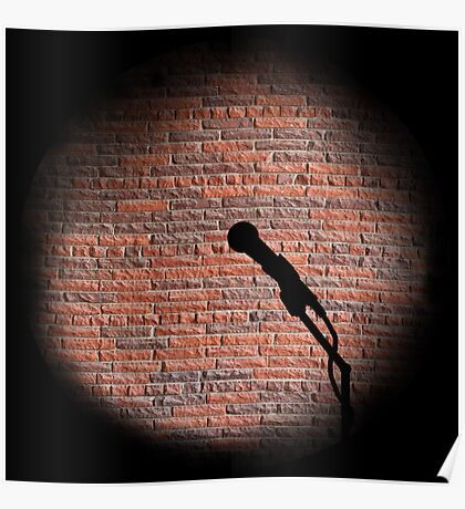 Microphone - Open mic Poster