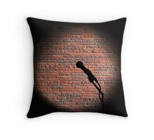 Microphone - Open mic Throw Pillow