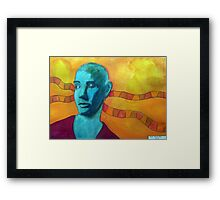 396 - SINEAD O'CONNOR - DAVE EDWARDS - WATERCOLOUR - 2013 Framed Print