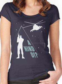 Metal Gear Solid - 'A Hind D!?' Mk.2 Women's Fitted Scoop T-Shirt