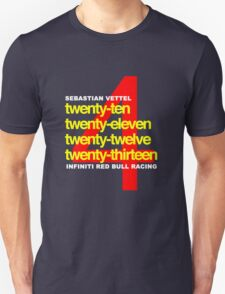 SEBASTIAN VETTEL 4 WORLD CHAMPIONSHIPS T-Shirt