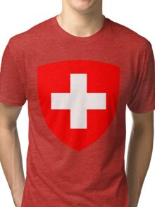 Switzerland UNTOUCHED | Europe Heraldry | SteezeFactory.com Tri-blend T-Shirt