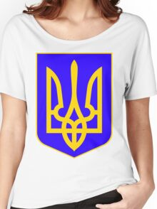 Ukraine FRESH | Europe Heraldry | SteezeFactory.com Women's Relaxed Fit T-Shirt