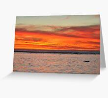 Sunset Over Rarotonga, Cook Islands Greeting Card