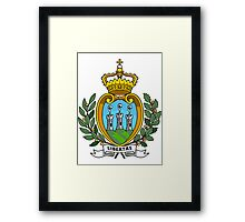 San Marino | Europe Stickers | SteezeFactory.com Framed Print