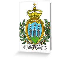 San Marino   Europe Stickers   SteezeFactory.com Greeting Card