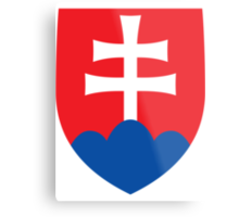 Slovakia | Europe Stickers | SteezeFactory.com Metal Print