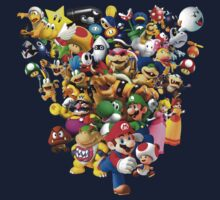All characters of Mario Bros by santilopez