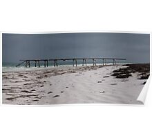Jetty and beach, Old Eucla Poster