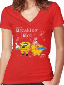 Breaking Bob Women's Fitted V-Neck T-Shirt