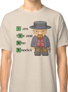 """I am the one who knocks!!"" Walter White - Breaking Bad Classic T-Shirt"