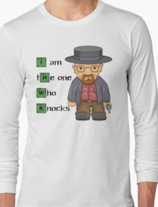 """""""I am the one who knocks!!"""" Walter White - Breaking Bad Long Sleeve T-Shirt"""