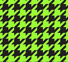 Houndstooth - Apple Green / Black by Surpryse