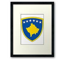 Kosovo | Europe Stickers | SteezeFactory.com Framed Print