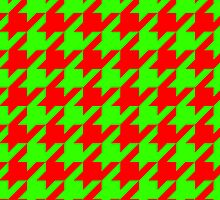 Houndstooth - Holiday Colors by Surpryse