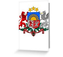 Latvia   Europe Stickers   SteezeFactory.com Greeting Card